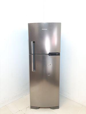 Refrigerador Brastemp 375l Frost Free Evox 2 Portas C/ Gavetao De Legumes Fresh Zone  - Inox