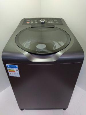 Lavadora Brastemp 15kg Double Wash C/ Ciclo Edredom E Cestos Independentes - Grafite