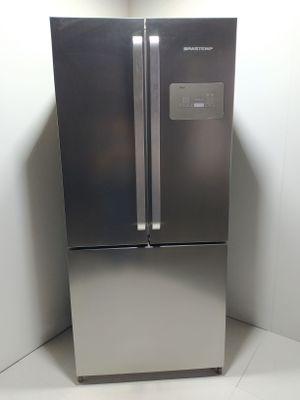 Refrigerador Brastemp 540l Frost Free Side Inverse C/ Ice Maker 3 Portas  - Inox