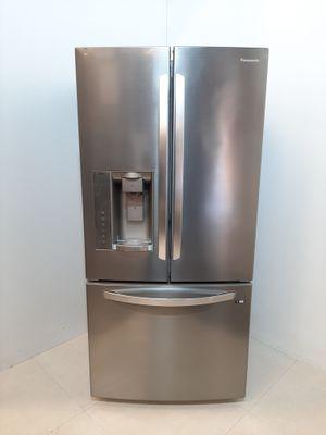 Refrigerador Panasonic Frost Free 592l 3 Portas French Door Com Dispenser De água E Gelo - Aço Escovado