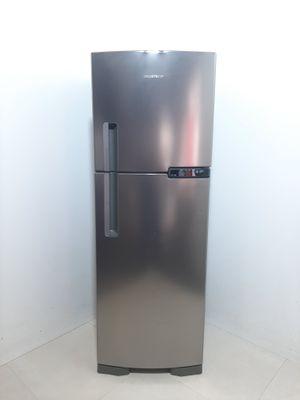Refrigerador Brastemp 375l Frost Free Evox 2 Portas C/ Gavetão De Legumes Fresh Zone  - Inox